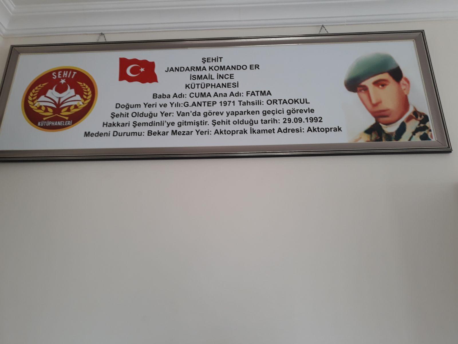 Şehit Jandarma Komando Er İsmail İNCE