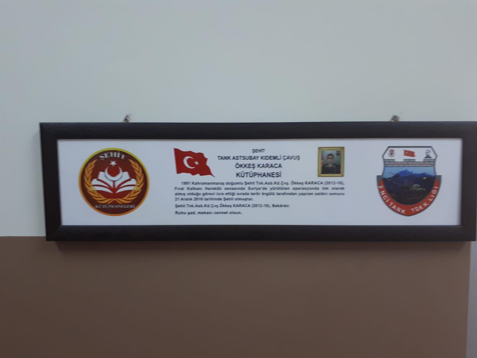 Şehit Tank Astsubay Kıdemli Çavuş Ökkeş KARACA