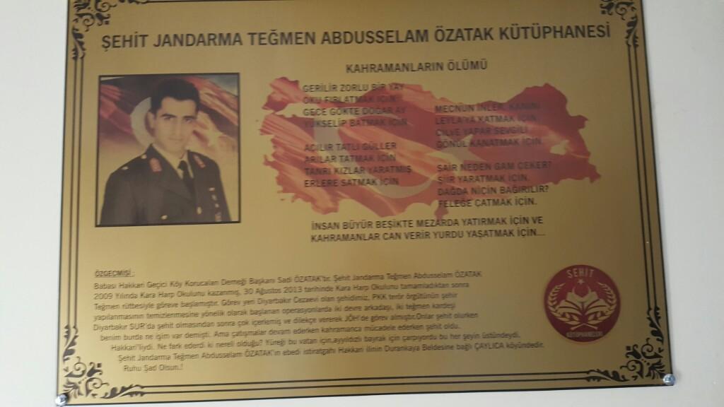 Şehit Jandarma Teğmen Abdülselam ÖZATAK