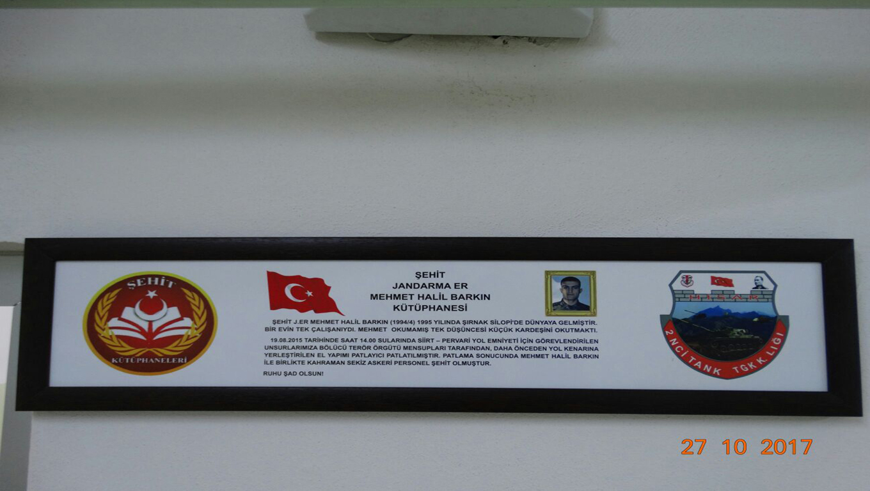 Şehit J. Er Mehmet Halil BARKIN