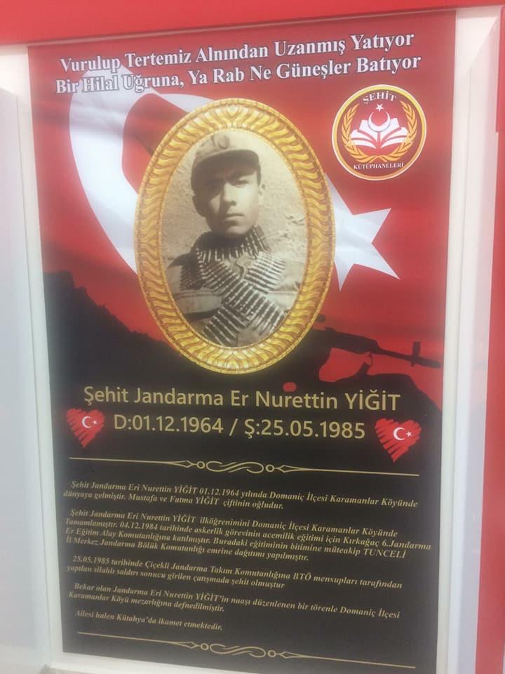 Şehit Jandarma Er Nurettin YİĞİT