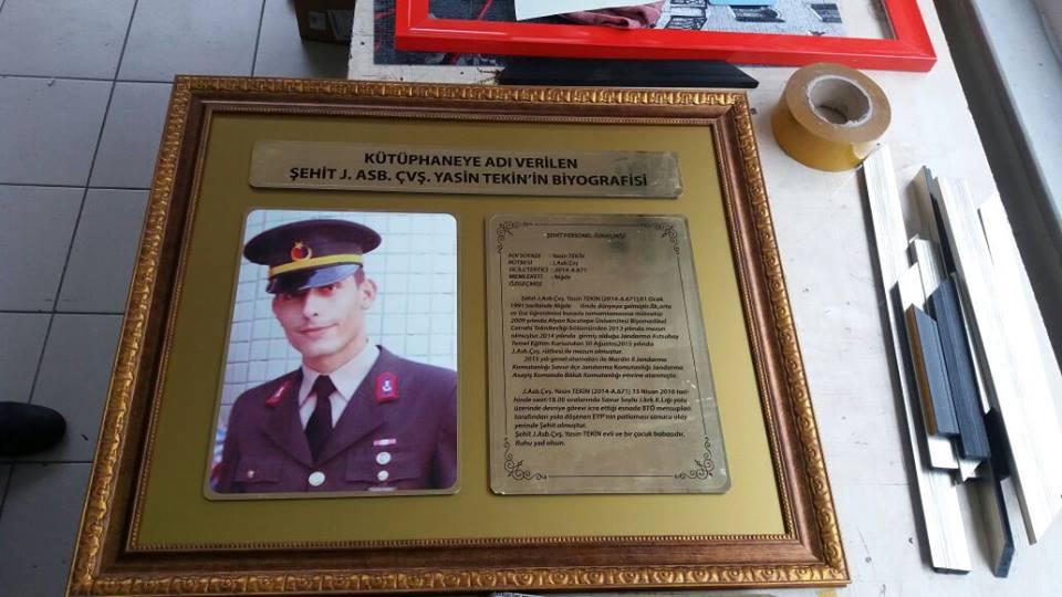 Şehit Jandarma Astsubay Çavuş Yasin TEKİN