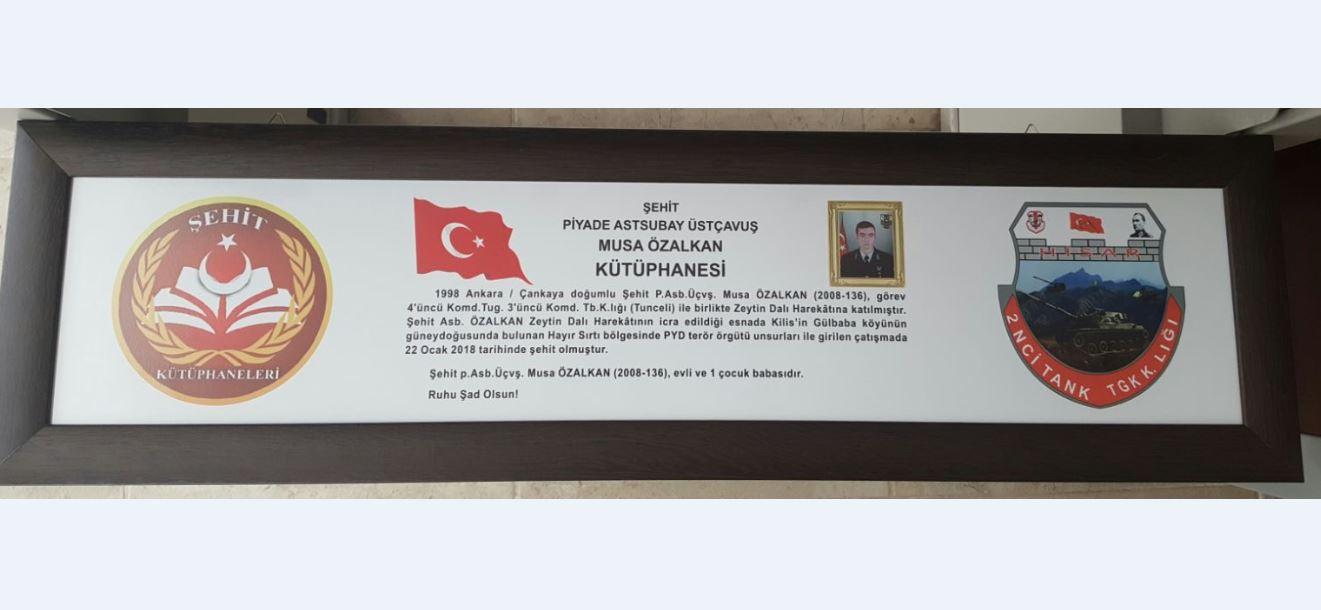 Şehit Piyade Astsubay Üstçavuş Musa ÖZALKAN