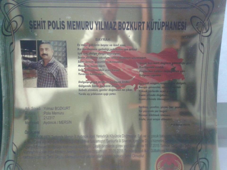 Şehit Polis Memuru Yılmaz BOZKURT